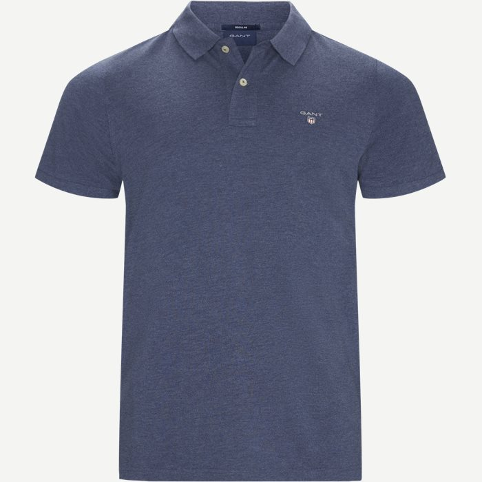The original Pique SS Rugger Polo T-shirt - T-shirts - Regular - Denim